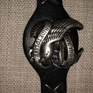 """Jewelry - Leather """"live to ride ride to live"""" eagle"""